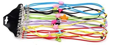 Brillenkette Kette–12sortiert Farbe Elastic verstellbar Lesen Eyewear Brille Hals Halterungen Sicherheit Gurt Seil Halterung für Kid Kinder