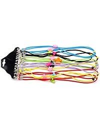 Eyeglass–Cadena 12surtidos color elástico ajustable lectura Eyewear Gafas cuello Retainers cinta de seguridad Cable Cuerda Soporte para Kid Niños