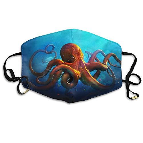 Preisvergleich Produktbild Monicago Einzigartige Unisex-Mundmaske,  Gesichtsmaske,  Kraken Octopus Face Mask,  Reuseable Polyester Face Mouth Mask Respirator For Cycling Anti-Dust For Men Women Kids