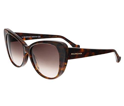 Occhiali da sole balenciaga ba0016 c57 55f (coloured havana / gradient brown)