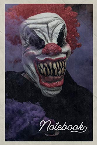 Notebook: Best Horror Movies of all Time Chic Composition Book Journal Diary for Men, Women, Teen & Kids Vintage Retro Design for notes on top 10 scary clowns (Clown Themen Für Halloween)