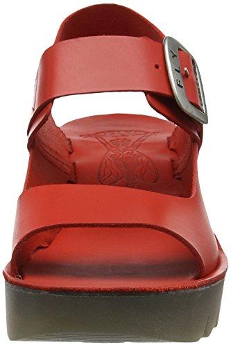 FLY London Damen Yail907fly Wedge Sandalen Rot (scarlet 002)