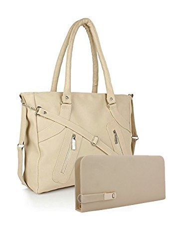 Saloni Women's Handbag Cream  available at amazon for Rs.399