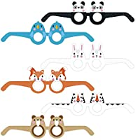 On The Wall Fun Character Themed Photo Prop Party Glasses (Pack 6)