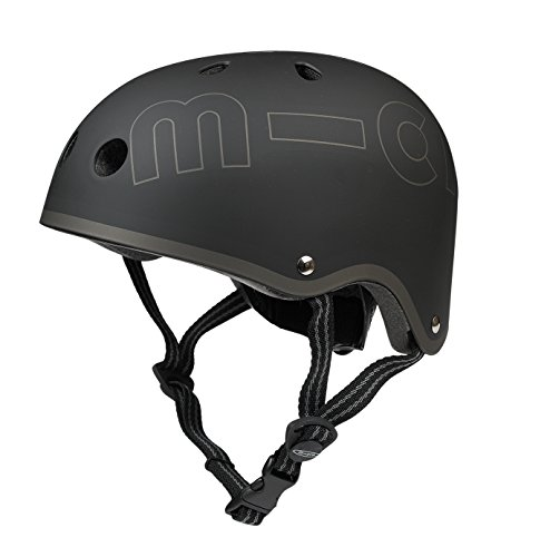 Micro Mobility Unisex Jugend Micro Helm, Schwarz, 48-53cm