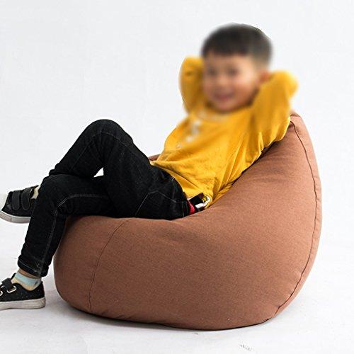 Enfants Canapé Sac de Bean Lounger Chambre Tissu Amovible Et Lavable Salon Chaise Chaise 50 * 70 cm (Couleur : Marron)