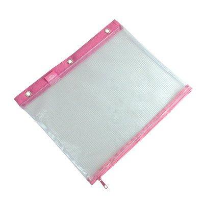 Alvin 3-Ring Binder Mesh Bag 8 x 11 Pink Trim by Alvin