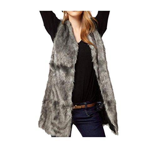 cappotto Koly _Donne Faux Fur Vest giacca senza maniche corpo inverno cappotto caldo (S)