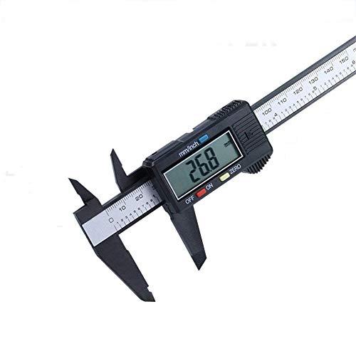 QEES 150mm/6-Zoll Hochpräziser Nonius-Messschieber mit Digitaler Anzeige Schieblehre für Abständen und Durchmesser Elektronisch Digital HYCZ04