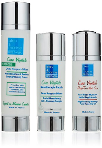 Veana Cure Vegetale Anti Rosacea Cream plus Serum plus Rose Hip Oil-Set, Rosacea, 1er Pack (1 x 3 Stück) - Rosacea-set