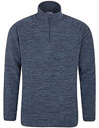Mountain Warehouse Snowdon Mens Ouatine micropolaire - chaude, respirable tous les manteau de saison, séchage rapide, dessus de veste d'ouatine de collier de fermet