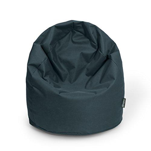 BuBiBag Sitzsack Tropfenform Beanbag Sitzkissen für In & Outdoor XL 300 Liter bis XXXL 470L mit Styropor Füllung in 23 versch. Farben (XXL Ca. H : 115cm - Dm : 70cm ca. 420 Liter, schwarz)