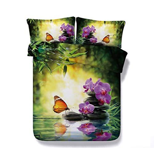 Mädchen Kinder Schmetterling Blumendruck Bettwäsche Galaxy Bed Set Pilz Tröster Abdeckung Mond Tagesdecke Sternennacht Sterne Bettdecke Baum Bettbezug Blossom -