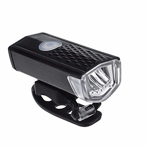 LEvifun Fahrradlicht USB Wiederaufladbare Scheinwerfer Fahrrad Rücklicht Fahrradbeleuchtung Fahrradlenker Fahrradlampe Radfahren Superhelle Sport Camping Warnlicht Wasserdicht fuer Kinder- , Herren- und Damen Raeder F2 (Schwarz)