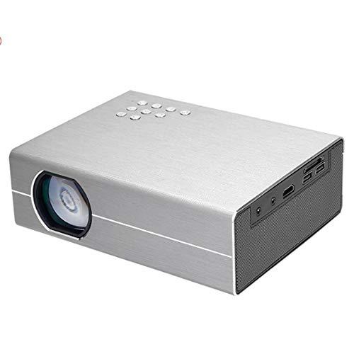 AXDNH Mini-Projektor, 1080p HD-Videoprojektor Maximale 170-Zoll-Projektionsgröße LED Kein Bildschirm Fernseher Kompatibel AV/VGASD/HDMI Heimkino Tragbarer Projektor
