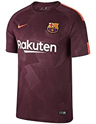 Nike Fc Barcelona Camiseta, Niños, Burdeos / Naranja, 12-13 Años