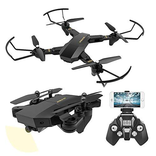 Powpro AX S9 RC Quadcopter con 2.4 GHz giroscopio a Assi altitudine Funzione Hold e 720p HD 2 MP Fotocamera Elicottero, Nero, Men: Large