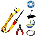Fedus 25W Soldering Iron Kit,Soldering Wire,Soldering Flux,Wire Cutter,Stand Wick 25 W Simple(Flat Tip)