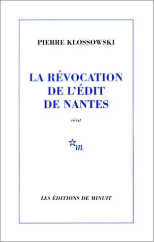 LA REVOCATION DE L'EDIT DE NANTES