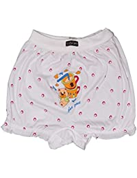 BODYCARE Pure Cotton Printed White Bloomer for Girls & Kids (305)