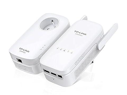 TP-Link CPL AV1200 Wi-Fi Bi-Bande 1200 Mbps, 3 Ports Gigabit