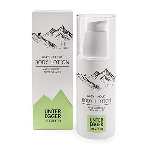 Body-Lotion von Unteregger Cosmetics - Natur-Kosmetik mit reiner Molke | Haut-Pflege für Damen und Männer | Feuchtigkeitsspendende, poren-verfeinernde Feuchtigkeits-Creme | 150 ml (Kokos-milch-creme)