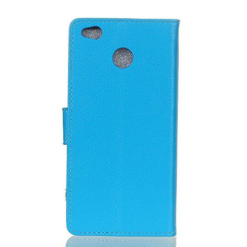 Klassische Litchi Texture PU Leder Schutzhülle Horizontale Folio Flip Stand Case Cover mit Kartensteckplätzen für Xiaomi Hongmi 4X ( Color : Blue ) Blue