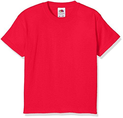 Fruit of the Loom Jungen T-Shirt Value T, Rot (Red),12-13 Jahre (Herstellergröße:34)