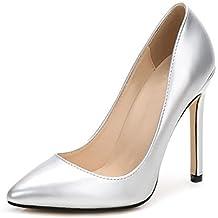 Ochenta -11CM Zapatos de Tacón de Aguja Puntiagudo Punta Cerrada Diseño Elegante Modo para Fiesta y Boda para Mujer