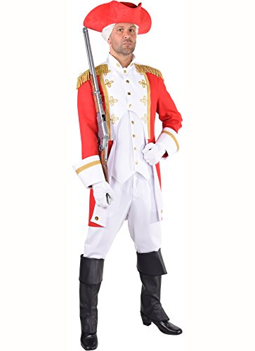 Gardeuniform Gardeoffizier Prinzengarde Karneval Major Majorsuniform blau oder rot (S, rot)