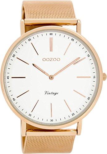 Oozoo Damen Digital Quarz Uhr mit Edelstahl Armband C8177