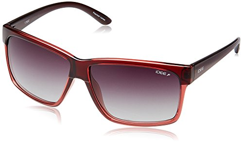 IDEE UV Protected Rectangular Unisex Sunglasses - (S1992C4P|59|Red Color) image