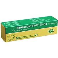 ZINKBRAUSE Verla 25 mg Brausetabletten 20 St Brausetabletten preisvergleich bei billige-tabletten.eu