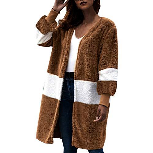 Orchgas Damen Strickjacke Plüsch Oberteil Nähen Tasche Mantel Elegant Shirt Pullover Sweater Winter Bluse Top Sweater Strickpullover Strickpulli Herbst Winter Strickpullover -