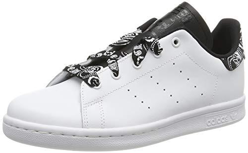 adidas Stan Smith C, Scarpe da Ginnastica Unisex Bambini, Bianco Ftwr White/Core Black, 34 EU