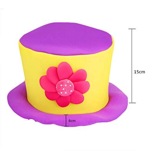 YiOQIBiao Halloween-Clown-Hut für Kostüm, Party, Kostüm, Tupfen, für Erwachsene, Party, Cosplay, Zubehör für Zuhause, Dekoration Xcm-i-Purple