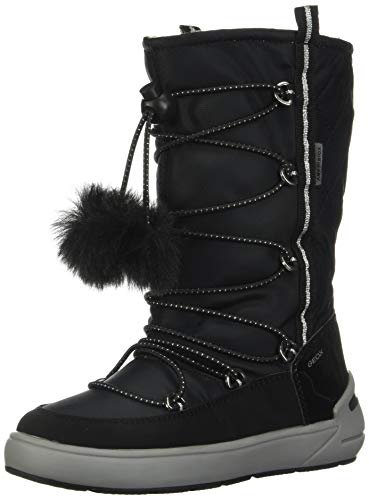 Geox J Sleigh Girl B ABX B, Botas de Nieve para Niñas, Negro Black C9999, 36 EU