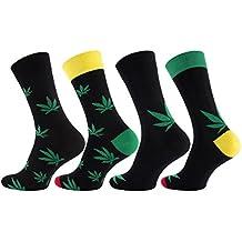 8 pares Calcetines para hombre con diseño marihuana