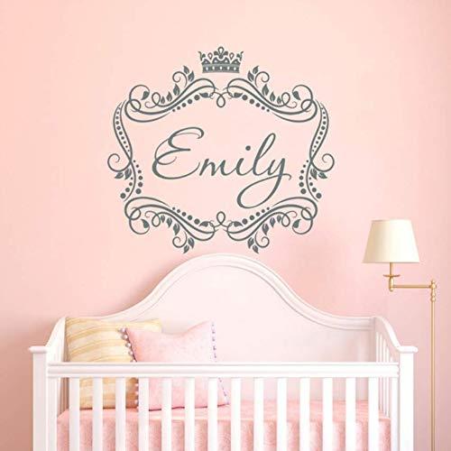 Wandaufkleber Baby Mädchen Gemacht Wall Decal Vinyl Aufkleber Sticker Frame Personalisierte Kinder Kinderzimmer Schlafzimmer Poster 57X60Cm