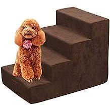 Haodene Escaleras para Mascotas 4 Pasos Easy Climb Escaleras para Mascotas Escalera para Perro De Espuma