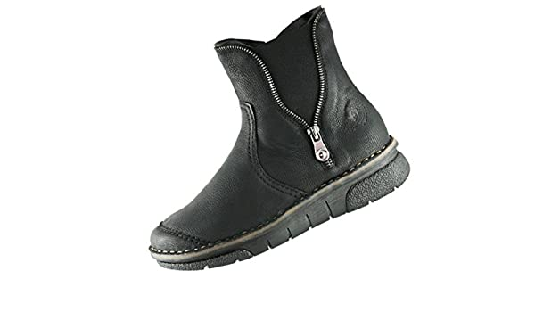 RIEKER WINTER DAMEN Schuhe schwarz 73391 00 mit Warmfutter