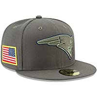 New Era 59Fifty Cap - Salute to Service New England Patriots oliv