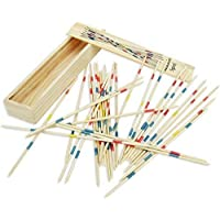 crystaleye mikado spiel wooden sticks game - fun game (pack of 2)- Multi color