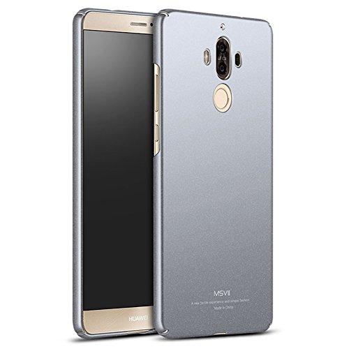 Huawei Mate 9 Hülle, MSVII® PC Kunststoff Härte Hülle Schutzhülle Case Und Displayschutzfolie für Huawei Mate 9 - Rose Gold JY30020 Grau