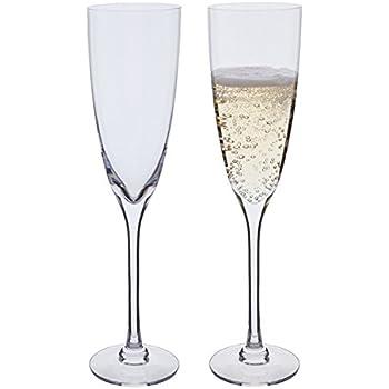 Dartington Crystal Rachael Champagne Flute Glasses