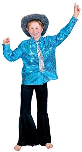 Générique Chemise Disco Bleue Garçon 8 à 10 Ans