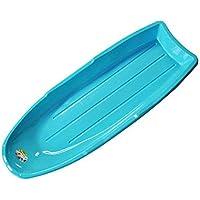 XX-Snow-Sleds Trineo de Nieve Trineo de plástico Grande Trineo Azul Ligero con Mango de Cuerda