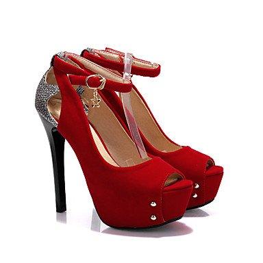 LFNLYX Talons pour femmes Printemps Été Automne Club Chaussures Cuirette Bureau et carrière Robe de soirée et soirée Stiletto Heel Sequin Noir Bleu Rouge Red