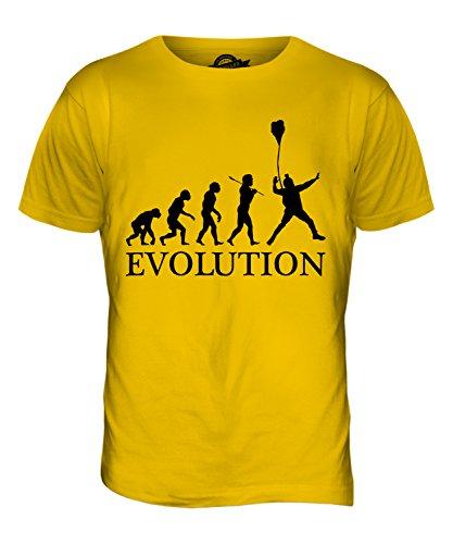 CandyMix Base Jumping Evolution Des Menschen Herren T Shirt Dunkelgelb