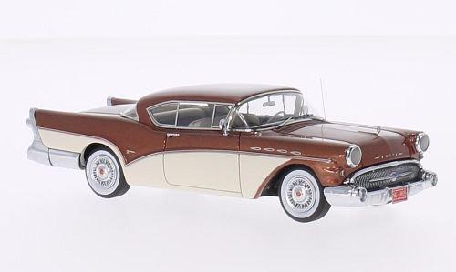 buick-roadmaster-toit-amovible-coupe-metallic-brun-blanc-1957-voiture-miniature-miniature-deja-monte